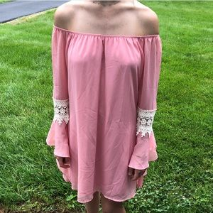 The Lucky Knot off the shoulder dress!